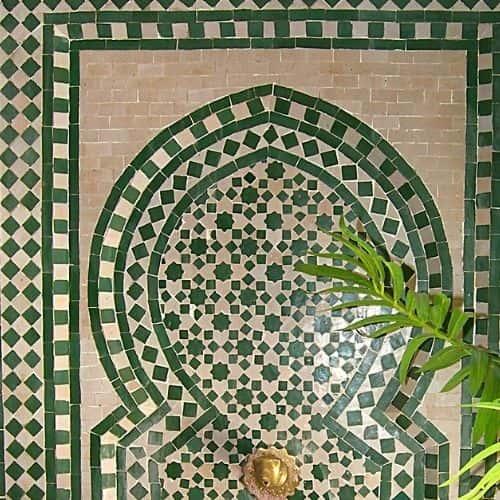 fuente zellige verde